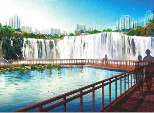昆明九龙戏水瀑布 图片来源于网络