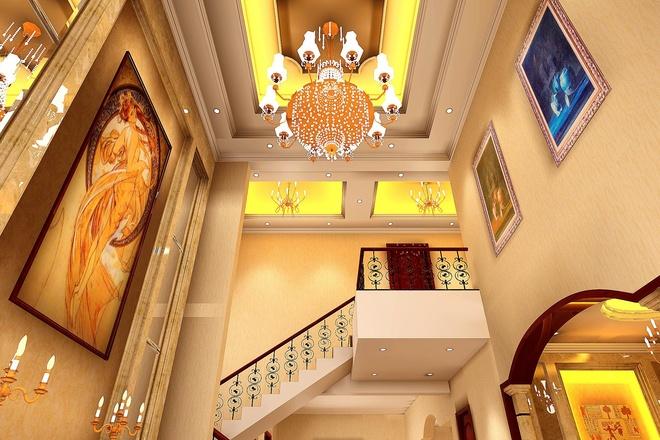 简约欧式风格别墅 奢华装修设计案例 组图