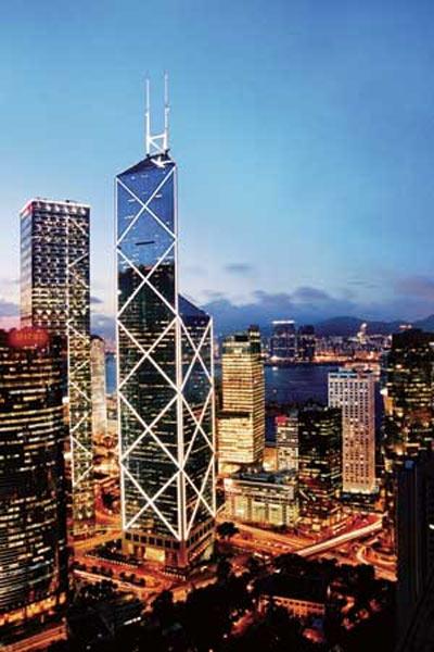 贝聿铭作品 香港中国银行大厦