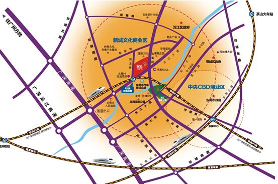 东莞市中心主城区扩容势在必行,总站商圈将与市中心共融,总站商圈发展图片