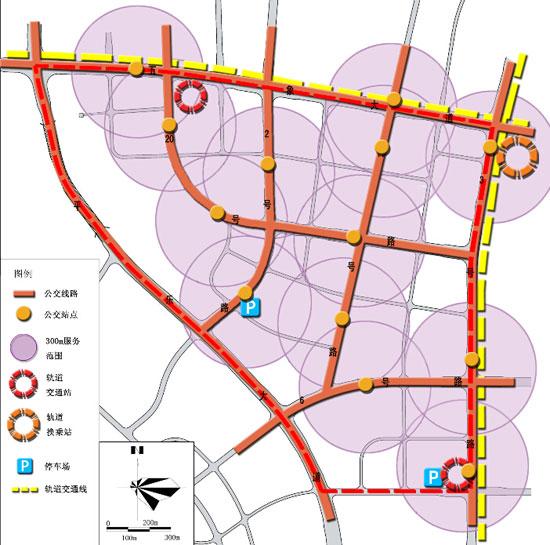 五象新区总部基地综合交通规划图(图片来源:南宁规划信息港)