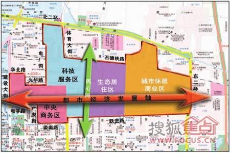 老工业区产业功能空间布局图