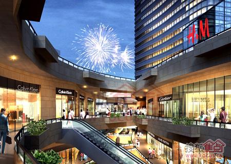 星颐·星湖天地商场内部效果图图片