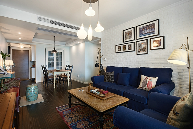 85平地中海湘江公寓婚房装修 让室内返璞归真