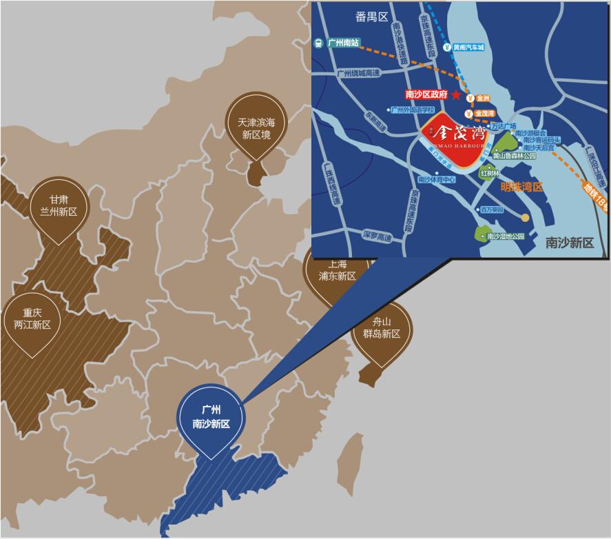 南沙金茂湾作为第一个入主明珠湾的大型城市综合体项目,位置优越