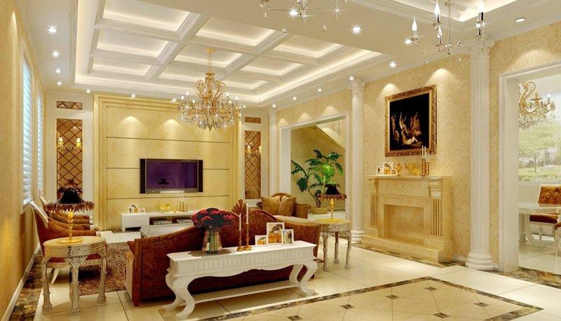 对于很多家庭来说,都是会好好打造电视墙的,毕竟电视墙就是客厅当中最重要的一面墙壁。如何来打造电视墙呢?其实这个一点儿都不难。近年来,欧式风格装修越来越受人们喜爱,简单又有品位。在此小编为您进行简单的欧式风格客厅电视背景墙介绍,一起欣赏这套欧式风格客厅电视背景墙装修效果图,我们来看看欧式风格电视背景墙如何能俘获大家的心。