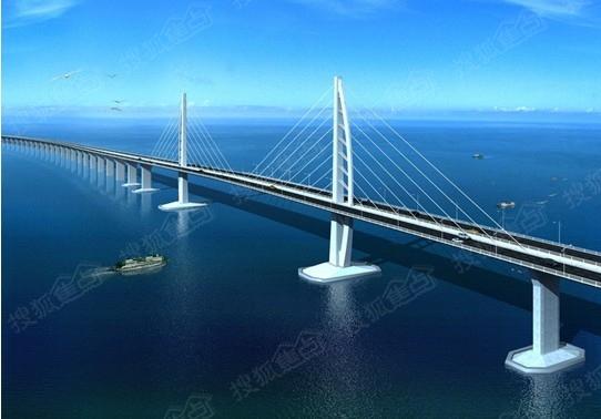 港珠澳大桥 效果图-深圳到中山未来只需20分钟 不是开玩笑