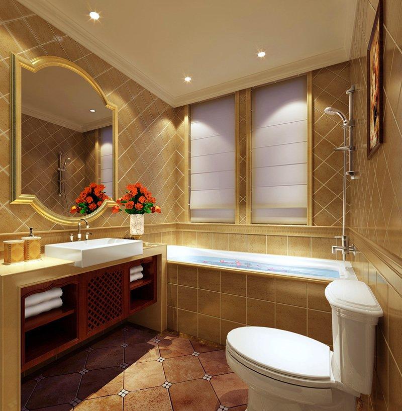 卫生间里的浪漫情调 欧式风格装修设计效果图图片