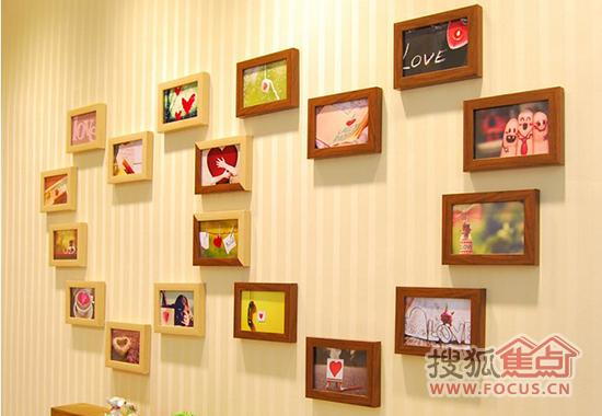 照片墙设计效果图 回忆我们的相遇与相守瞬间