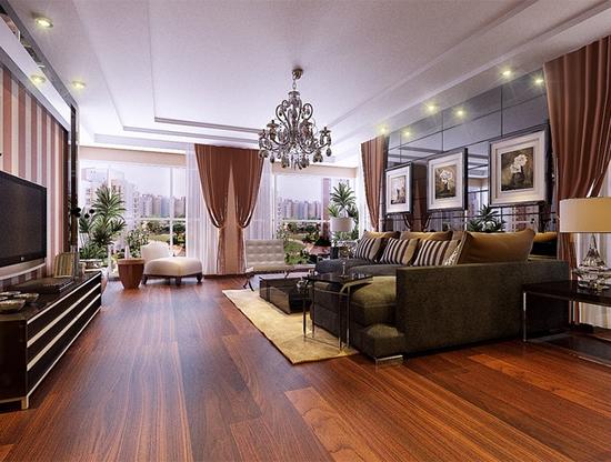 装修装饰之家居户型45万打造150㎡烤漆装饰