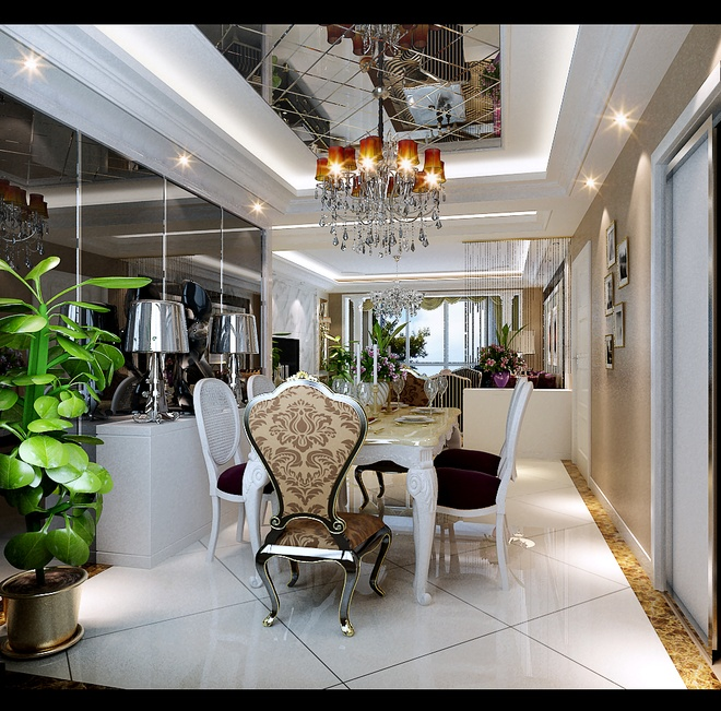 X 本案的设计风格为简约欧式,营造典雅、自然、高贵的气质、浪漫的情调是本案的主题。简约、质朴的设计风格是众多人群所喜爱的,生活在繁杂多变的世界里已是烦扰不休,而简单、自然的生活空间却能让人身心舒畅,感到宁静和安逸;藉着室内空间的解构和重组,便可以满足我们对悠然自得的生活的向往和追求,让我们在纷扰的现实生活中找到平衡,缔造出一个令人心弛神往的写意空间。