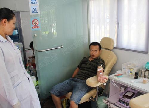 捐款过后,大家都来大理献血站献血
