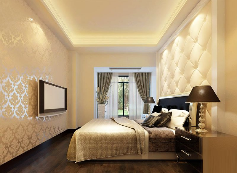 卧室影视墙装修设计效果图 增添家的温暖感觉