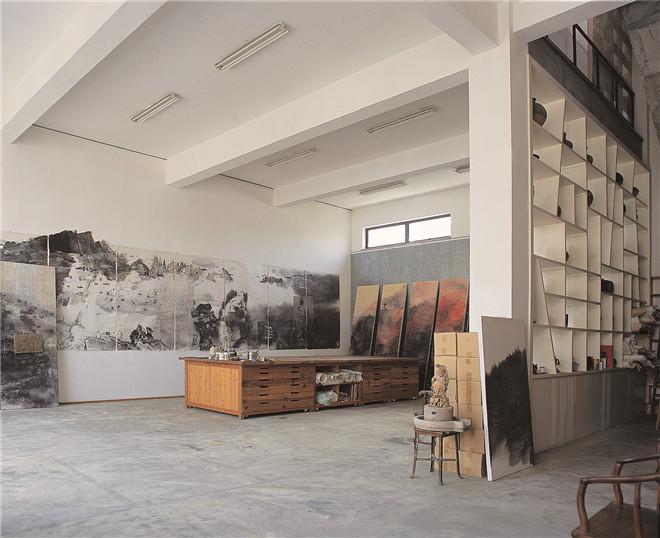 王善祥作品:画家陈心懋画室建筑室内设计图片