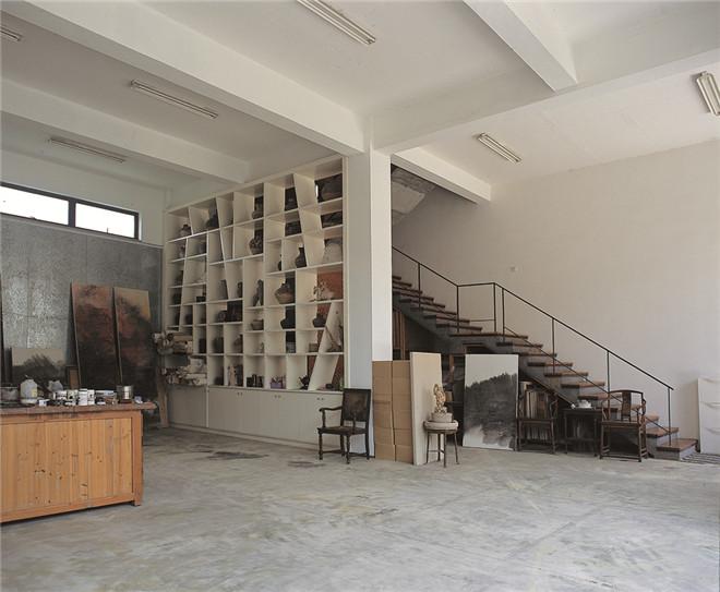 王善祥画家:画室陈心懋房子建筑室内设计盖作品地基设计图图片
