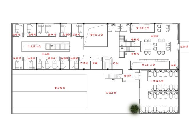 王善祥作品:上海富岛农庄温泉会所 旧厂房改造图片