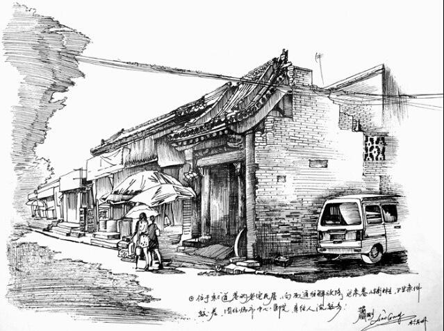 手绘太原地标古建筑之美