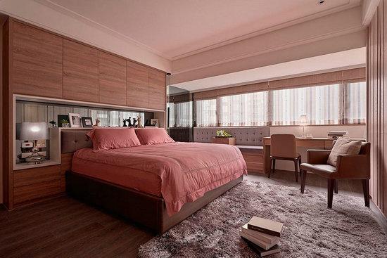 现代简约风格装修,屏风设计,现代简约案例,卧室设计