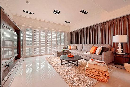 现代简约风格装修,屏风设计,现代简约案例,客厅设计