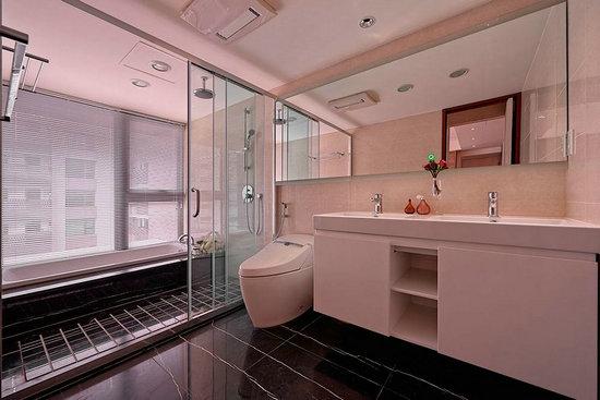 现代简约风格装修,屏风设计,现代简约案例,卫浴设计
