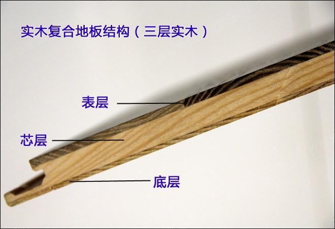 实木复合地板结构(三层)