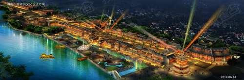 渭南老城老街文化项目夜景