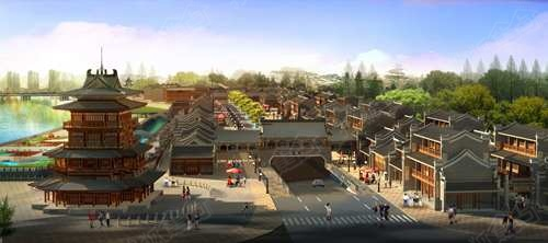 渭南老城老街文化项目由南到北