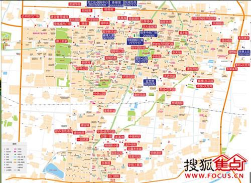 2014濮阳楼市地图搜狐焦点网濮阳站独家发行
