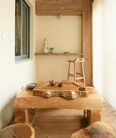 阳台茶室装修效果