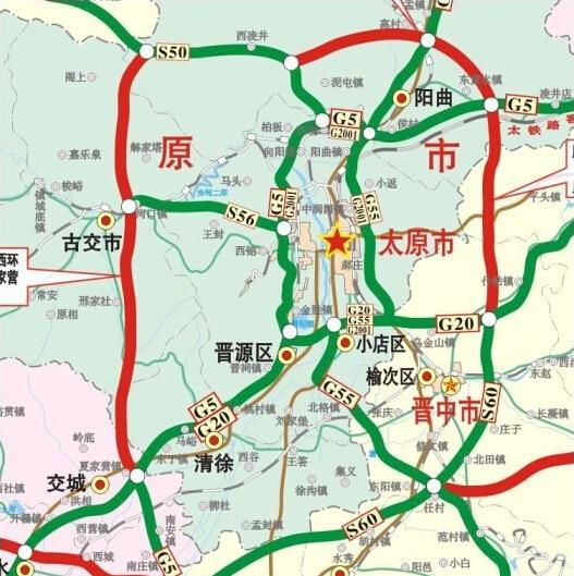 太原二环高速规划公示及规划图图片