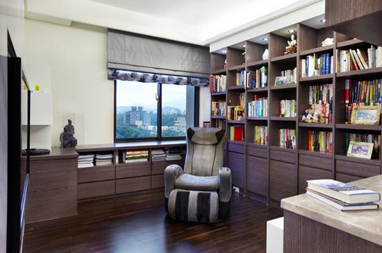 现代简约风格装修,现代简约风格案例,大户型装修,大户型案例,书房设计
