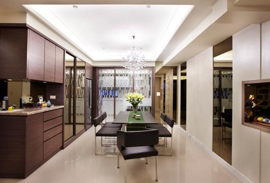 现代简约风格装修,现代简约风格案例,大户型装修,大户型案例,餐厅设计