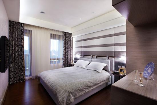 现代简约风格装修,现代简约风格案例,大户型装修,大户型案例,卧室设计