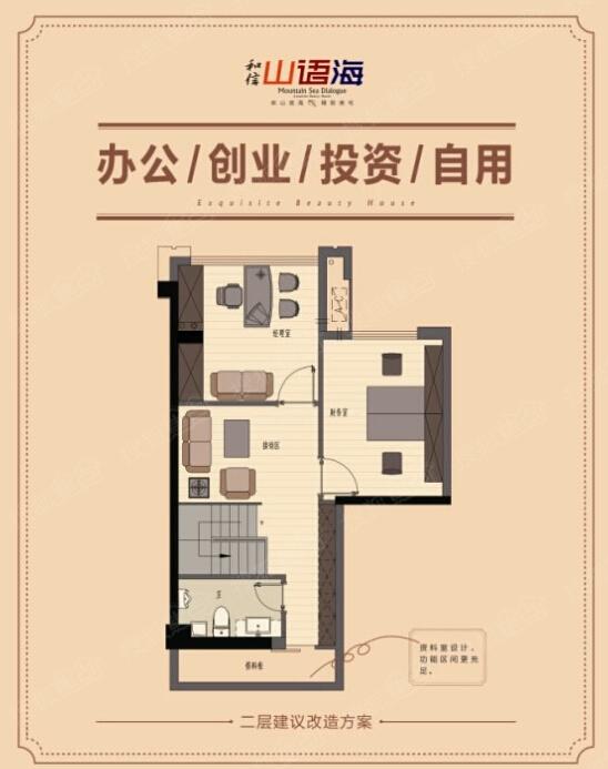 [和信山语海]59-64㎡挑高5米楼中楼 户型品鉴图片