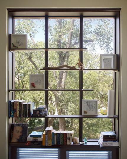 飘窗设计成书架 欧式田园风格别墅效果图