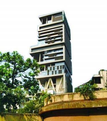 """印度孟买""""安蒂拉""""大楼"""