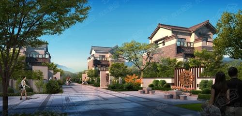 以缔造新中式别墅为己任,引入封闭式院落空间的中式建筑形式,结合现代图片