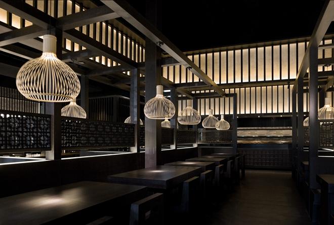 """周易室内设计:凝固的时光""""太初面食""""餐厅"""