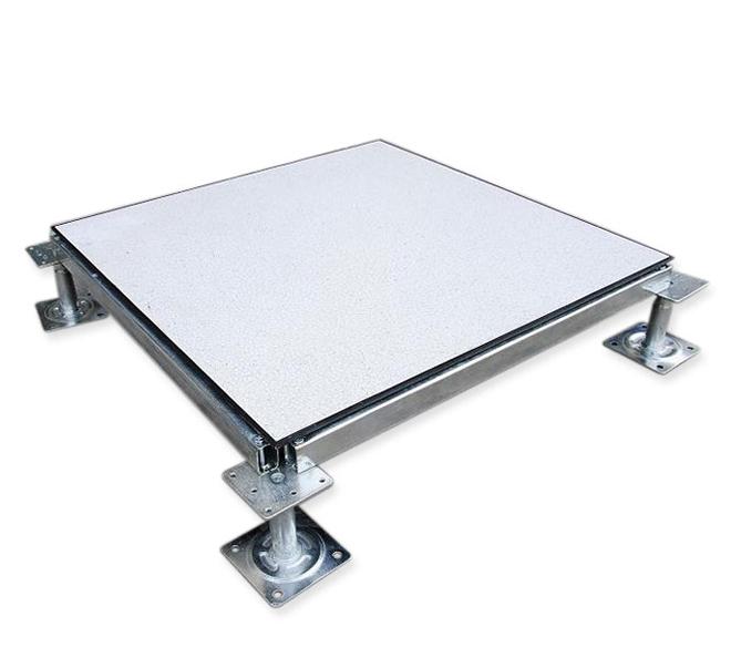 防静电地板施工步骤   一,基层处理与清理