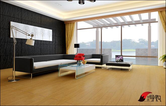 室内木地板阳台瓷砖效果图