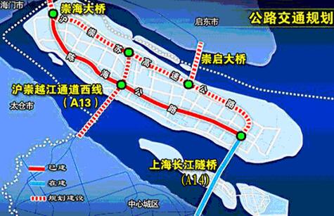 崇明公路交通网络