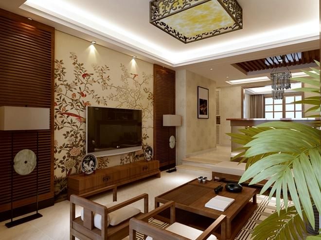 230平米新中式风格 色彩沉稳大气雅居(组图)图片