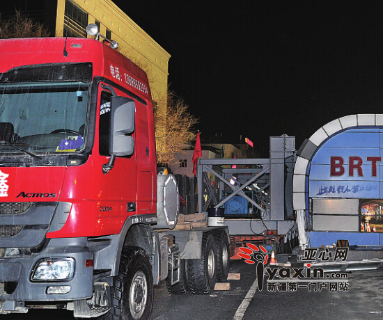 乌鲁木齐市移动公司brt车站平移380米 疆内首例