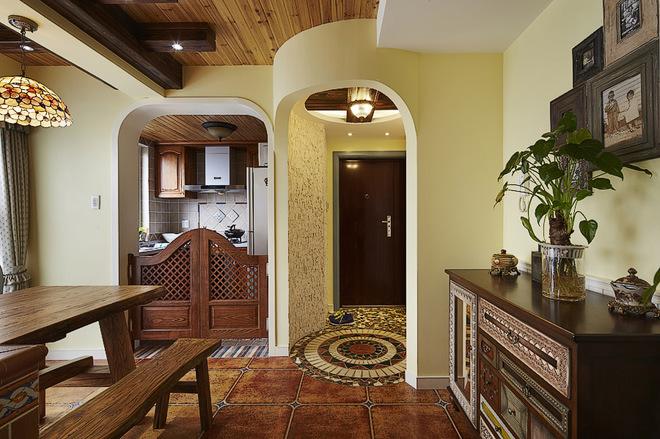 色彩系具有美式乡村风格的三居室家居设计-图图片