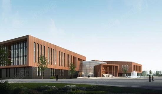 和顺沁园春 政务区图书馆与档案馆正在施工