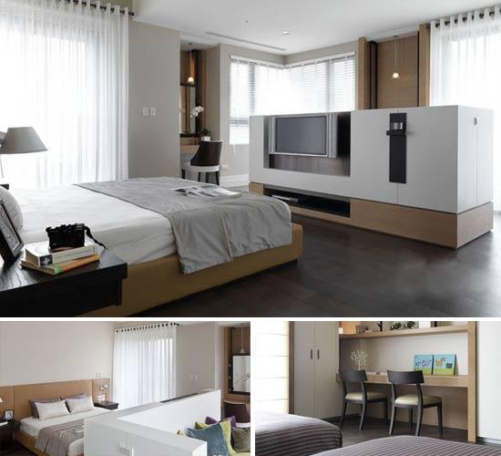 小户型装修,小户型案例,美式装饰风格,现代简约装修风格,宜家装修风格,卧室设计