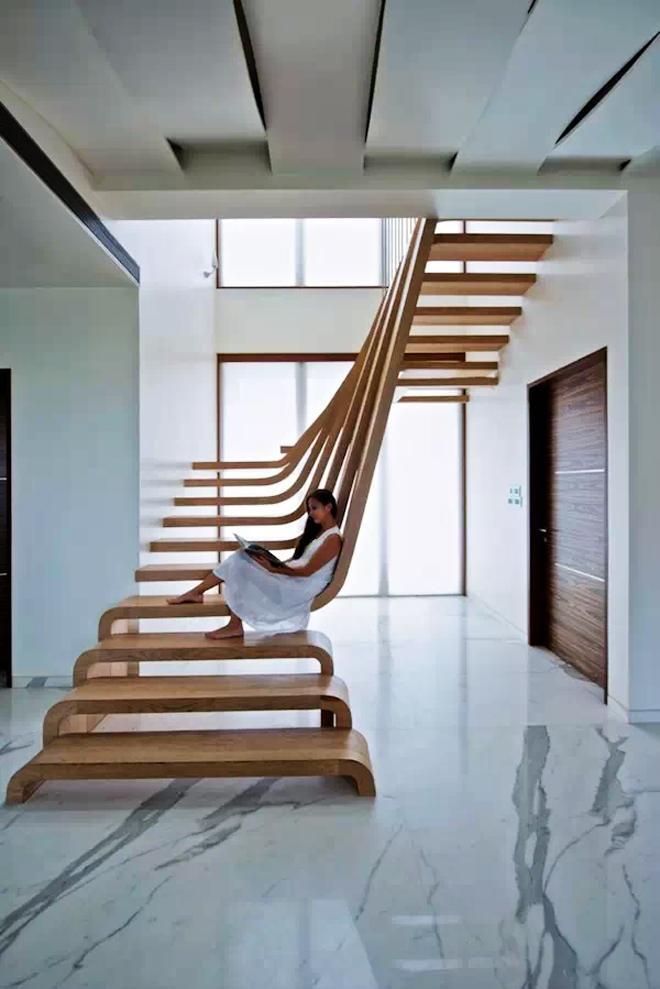 16款脑洞全开的楼梯设计 乖乖把膝盖交出来