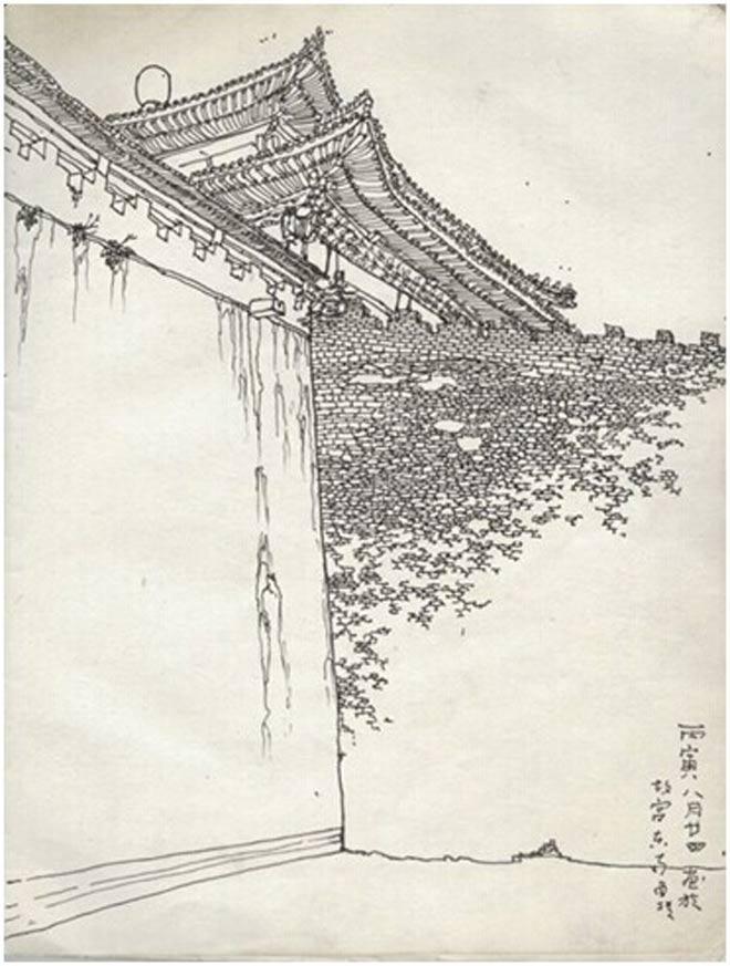 北京故宫手绘速写