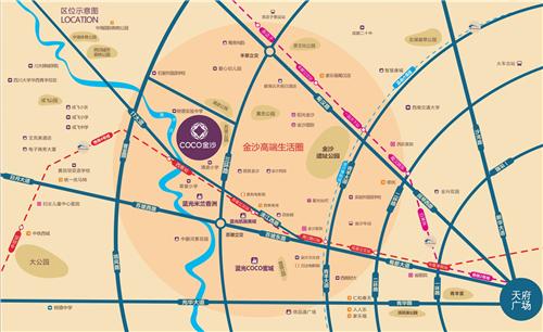 成都市立体地图素材