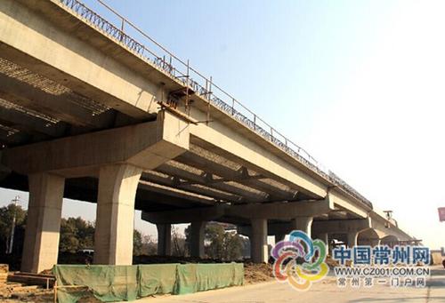 金武路改建工程新进展 最大桥梁将实现贯通